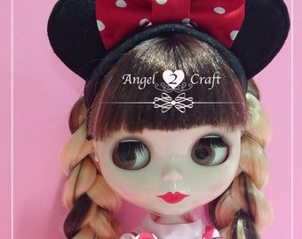 Blythe Felt Mickey Moussy Hairband - ideal for Halloween Party :)