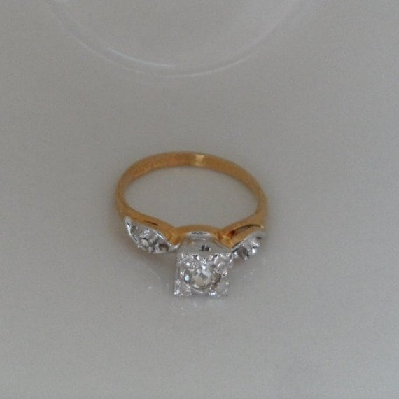NOS Faux Diamond Ring Fake Engagement Ring Cheap Engagement
