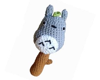 Totoro crocheted rattle