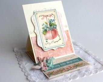 Fancy egg holder etsy graphic 45 easter greeting card easter egg card paper handmade greeting card spring negle Images