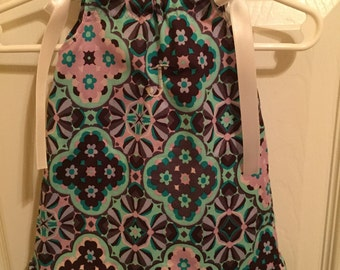 Monogrammed Pillowcase Dress with ruffle