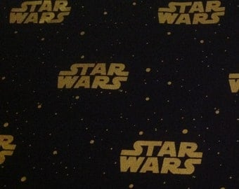 Licensed Black and Gold Star Wars Fabric