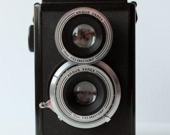 Vintage 1940s Argo Argoflex E TLR Camera with Case