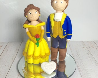disney wedding cake toppers beauty and the beast and the beast cake topper etsy 13592