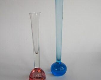 1960s art glass specimen vase