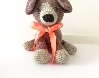 MADE TO ORDER Amigurumi Puppy crochet puppy toy dog - Little Muggles