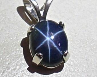 Star sapphire pendant 2.2ct