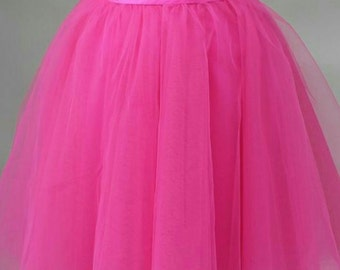 Pink Tulle skirts, Bridesmaids Tulle skirt, Engagement Tulle skirt, Tulle skirt, Bridal Showerskirt, Holiday Tulle Skirt, Petticoat, Gown