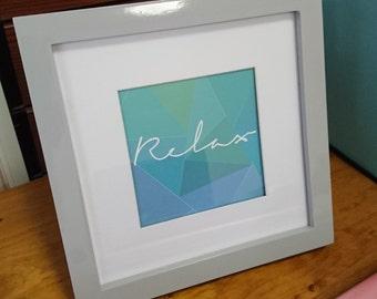 RELAX Square Framed Print