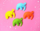 felt elephant toy ornament stuffed animal cute African elephant plush soft elephant nursery baby toy kid felt toy fridge magnet choose color