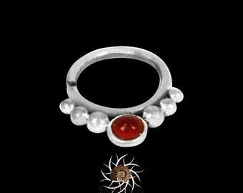 Silver Septum Ring - Tribal Septum Ring - Indian Septum Ring - Septum Jewelry - Septum Piercing - 16G Septum Ring -  Septum Nose Ring (S19)