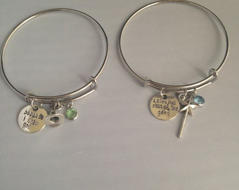 For Good- Because I Knew You, I have been changed for good Swarovski Elphaba and Galinda Wicked Musical Adjustable Bracelet Set (Set of 2)