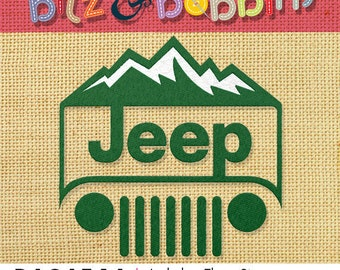 Jeep Mountain Edition - Digital Embroidery Design