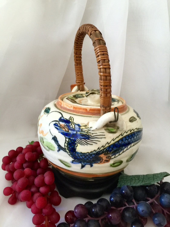 On Sale Teapot Dragon Porcelain Ceramic Three Toed Dragon