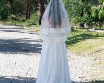 Anne Veil - 2 tier, tulle veil, veil, mantilla, traditional veil