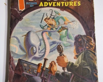 Fantastic Adventures October 1949 Vol 11 No 10 Vintage Sci-Fi Pulp Magazine