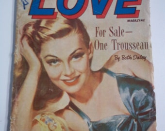 Ten Story Love Vol XXVI # 2 August 1949 Vintage Romance Pulp Magazine GGA