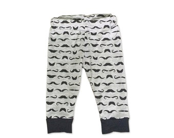 Little Man Birthday - Mustache - Little Man - Grey and Black