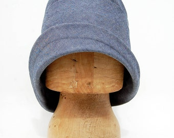 Denim cloche hat| womens designer hat|ZUTrenée sun hat in Italian chambray