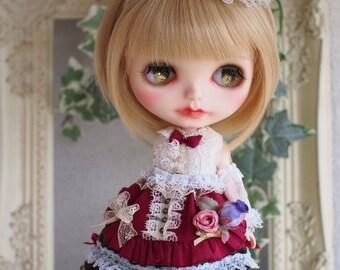 Blythe dress hand made.  3 item set    outfit