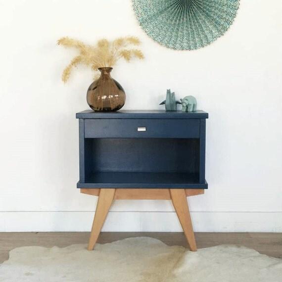 chevet vintage table de nuit gu ridon vintage par. Black Bedroom Furniture Sets. Home Design Ideas