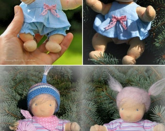 ooak, sunny baby, 6 inch, organic, waldorf doll, natural materials, child friendly, soft doll,  baby
