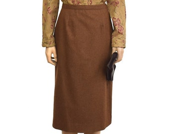 Vintage Skirt, Brown Heather Wool Skirt, 1990s Vintage Skirt, Women's Skirt, Vintage Wool Skirt, Button Skirt, Sir For Her, Women's Clothing