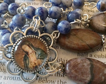 Virgin Mary Rosary Silver Rosary Catholic Rosaries Queen Mother Mary Rosary Confirmation Gift Mothers Day Gift