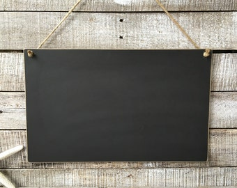 16 x 10 Distressed Blackboard Hanging Chalkboard Sign Unframed Message Board Reusable