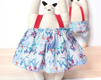 Doudou graphic decoration. baby - child design soft fabric natural