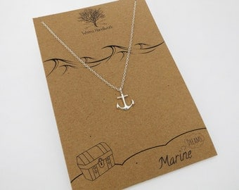 Silver Anchor Necklace - Dainty Necklace, Nautical Necklace, Anchor Jewellery, Nautical Jewellery, Gift for Her - Available in Gold & Silver