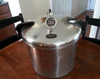 Vintage 1960's Presto Pressure cooker / canner 21qt. model 21B