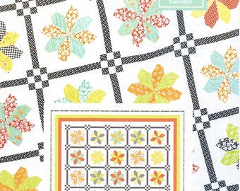 "Fig Tree County Fair Quilt Pattern, Fig Tree Quilt Pattern, Fat Quarter Quilt Pattern, Jelly Roll Quilt Pattern, 76""x 87"" Quilt, FTQ 1022"