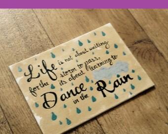 "Dance in the Rain: 5""x7"" print"