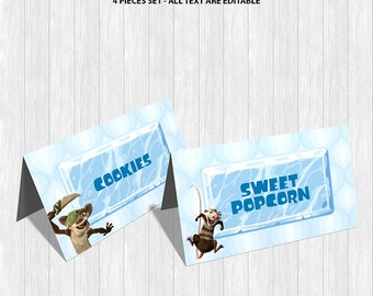Ice Age Food Labels