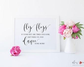 Dancing Shoes Sign Printable. Wedding Flip Flops For Guests. Wedding Printables. Wedding Signage. Wedding Sign Printables. Wedding Prints.