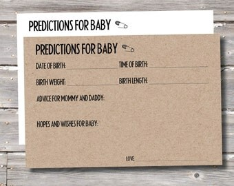 Baby Prediction Cards (Sets of 15 or 20)