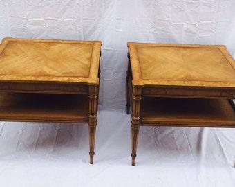 Pair of Beautiful Weiman Furniture Heirloom Quality Capri Tables