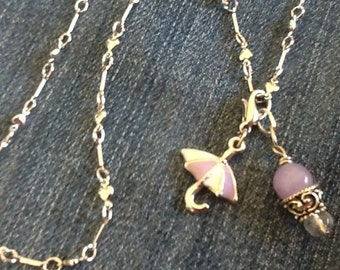 Umbrella Necklace Girl's necklace  Women's necklace Teen Necklace