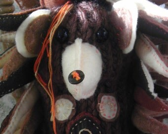 Henri - plush hedgehog, OOAK, handmade