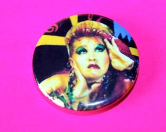 Vintage 1980s Style Cyndi Lauper Button Pin Badge