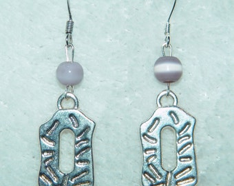 Hammered Metal Dangle Earrings
