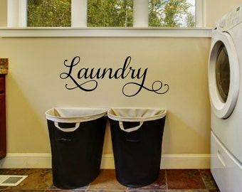 Laundry Wall Decal Laundry Vinyl Decal Laundry Room Decal Laundry Door Decal Laundry Decal Laundry Room Vinyl Laundry Room Decor
