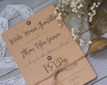 RUSTIC|Wedding Invitation Set #20