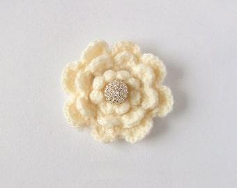 Crochet Flower Brooch - Crochet Brooch