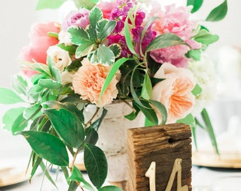 Reclaimed Wood Wedding Table Numbers