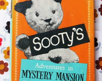 Sooty's Adventures in Mystery Mansion - vintage 1959s children's book - Daily Mirror stories