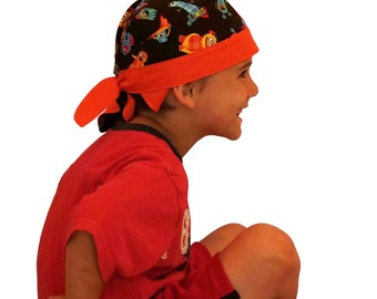 Jon's Children's Doo Rag - A Reversible Bandana, Cancer Hat, Chemo Headwear, Alopecia Scarf, Head Cover, Hair Loss  Cancer Gift