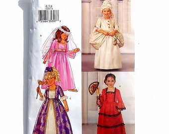 Butterick Sewing Pattern - Girls Dress Costumes #P264/3236 - Floor length dresses - Cut to Size 8