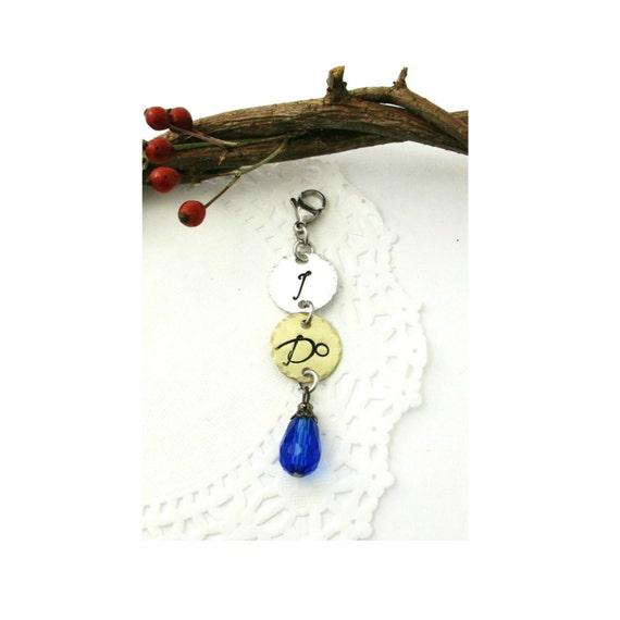 Blue Bridal Bouquet Charm : I do bridal bouquet dangle charm garter clip